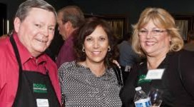Rocklin Edducation Foundation board members Tom DeLapp, Diane Ruslin, and Ann Bouchard at Toast of the Town